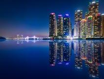 Wolkenkratzer Marine Citys im Haeundae-Ufergegendbezirk in Busan Lizenzfreies Stockfoto