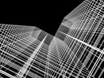 Wolkenkratzer mit Wolkenreflexion Stockfoto