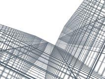 Wolkenkratzer mit Wolkenreflexion Lizenzfreie Stockbilder