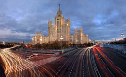 Wolkenkratzer in Moskau, Russland Stockfotografie