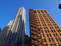 Wolkenkratzer in New York Stockfotos