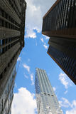 Wolkenkratzer in New York Stockfotos