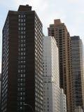 Wolkenkratzer in New York City Stockbild