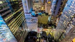 Wolkenkratzer New York Manhattan Vertial-Bewegung Timelapse stock video