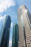 Wolkenkratzer in Shanghai Stockfotografie