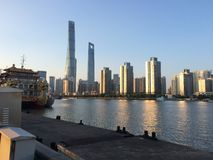 Wolkenkratzer Shanghai-Lujiazui CBD Lizenzfreies Stockbild