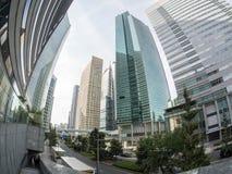 Wolkenkratzer an Shiodome-Bezirk Tokyo Lizenzfreie Stockfotografie