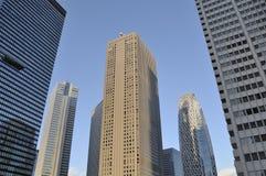 Wolkenkratzer in Tokyo stockbilder