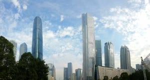 Wolkenkratzer um Huacheng-Piazza, Guangzhou, China lizenzfreies stockfoto