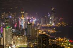 Wolkenkratzer und andere Gebäude auf Hong Kong Island in Hong Kong, China, angesehen vom Braemar-Hügel Lizenzfreies Stockfoto