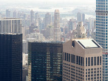 Wolkenkratzer und Bürogebäude in Manhattan Stockbilder
