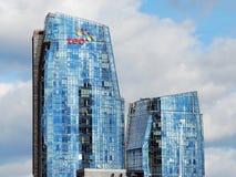 Wolkenkratzer in Vilnius-Stadt am 24. September 2014 Stockbilder