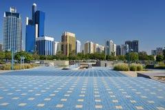 Wolkenkratzer von Abu Dhabi Stockfoto