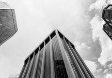 Wolkenkratzer von Denver im Monochrom Lizenzfreie Stockfotografie