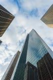 Wolkenkratzer von im Stadtzentrum gelegenem Houston, Texas Stockbild