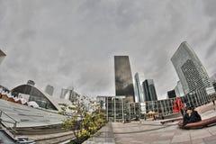 Wolkenkratzer von La Verteidigung in Paris Lizenzfreie Stockbilder