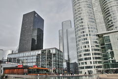 Wolkenkratzer von La Verteidigung in Paris Stockfotos