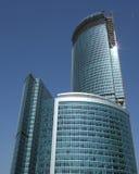 Wolkenkratzeraufbau stockbilder