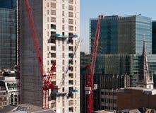 Wolkenkratzeraufbau in zentralem London Stockbild