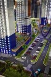 WolkenkratzerBauvorhabendesign Stockfotografie