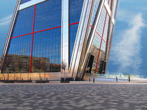 Wolkenkratzereintrag Lizenzfreies Stockfoto