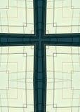 Wolkenkratzerfensterkreuz Stockbild