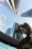 Wolkenkratzergebäude in Abu Dhabi, Vereinigte Arabische Emirate Lizenzfreies Stockfoto