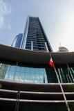 Wolkenkratzergebäude in Abu Dhabi, Vereinigte Arabische Emirate Stockfoto