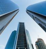Wolkenkratzergebäude in Abu Dhabi, Vereinigte Arabische Emirate Stockbilder