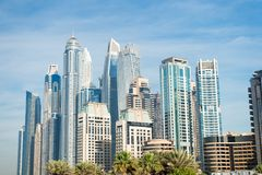 Wolkenkratzergebäude in Dubai, Vereinigte Arabische Emirate Lizenzfreie Stockfotos