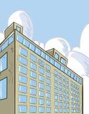 Wolkenkratzergebäude mit Himmel hinten. Lizenzfreies Stockbild