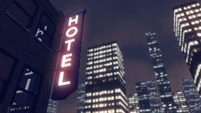 Wolkenkratzerhotel in einer Großstadt Stockfotografie