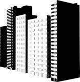 Wolkenkratzerschattenbilder Lizenzfreie Stockfotografie