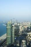 Wolkenkratzerskyline Abu Dhabi Stockfotografie