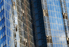 Wolkenkratzerwand Lizenzfreies Stockfoto