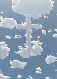 Wolkenkreuz im Himmel Stockbilder