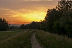 Wolkenlandschap bij zonsopgang Stock Fotografie