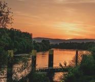 Wolkenlandschap bij zonsopgang Stock Foto's