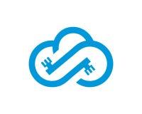 Wolkenlogo Schablonenvektor Stockbilder
