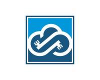 Wolkenlogo Schablonenvektor Stockfotos