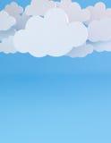 Wolkenmalplaatje Stock Afbeeldingen