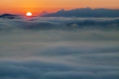 Wolkenmeer lizenzfreie stockbilder
