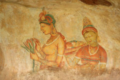 Wolkenmeisjes Sigiriya Royalty-vrije Stock Foto