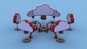 Wolkennetwerk Stock Afbeelding