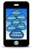 Wolkenopslag vector illustratie