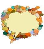 Wolkenpapier-Gesprächsbild. Lizenzfreie Stockfotos