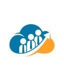Wolkenpartnerpfeilzusammenfassungs-Betriebsversicherungszusammenfassung lizenzfreie abbildung