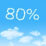 wolkenpictogram met ontwerp op blauwe hemel Stock Afbeeldingen