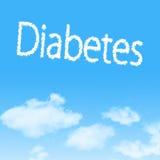 wolkenpictogram met ontwerp op blauwe hemel royalty-vrije stock afbeeldingen