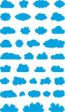 Wolkenpictogrammen Royalty-vrije Stock Foto's
